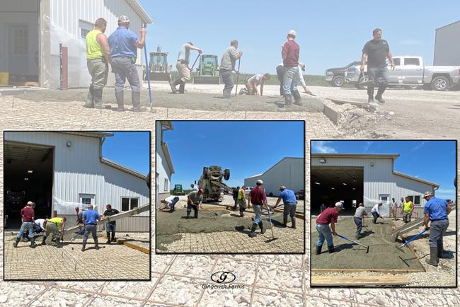 1st Concrete truck - Gingerich Farms