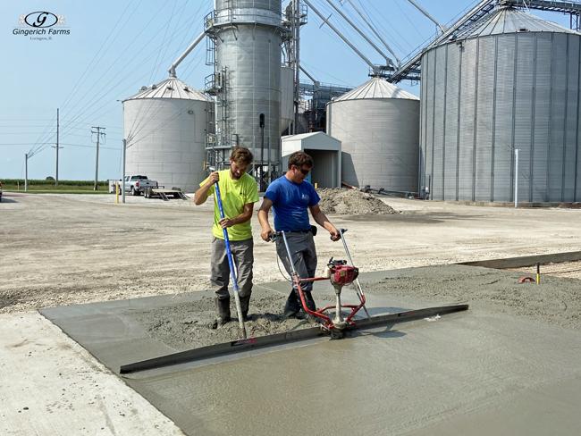Smooth concrete - Gingerich Farms