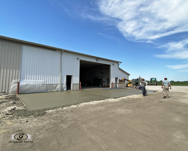 Finishing touch on concrete - Gingerich Farms