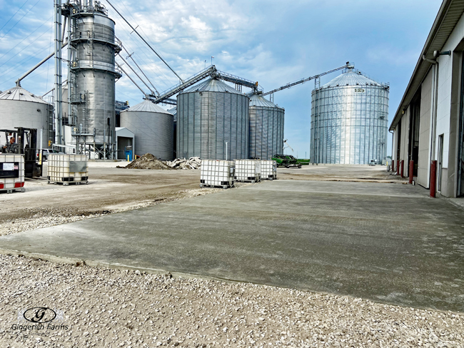 Completed concrete - Gingerich Farms