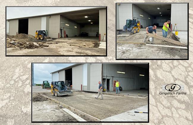 Get dirt ready concrete -  Gingerich Farms