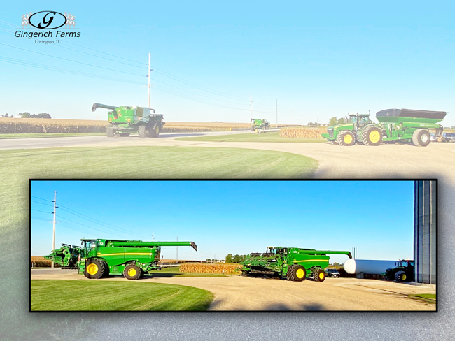 JD combines - Gingerich Farms