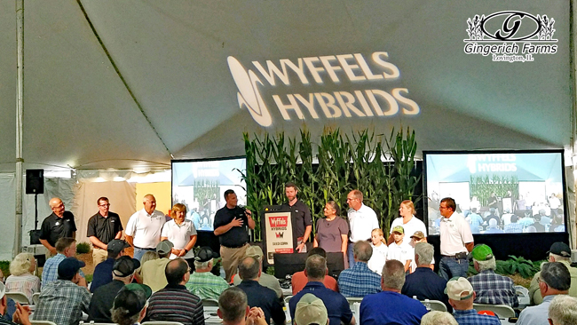 Wyffels honoring Gingerich Farms