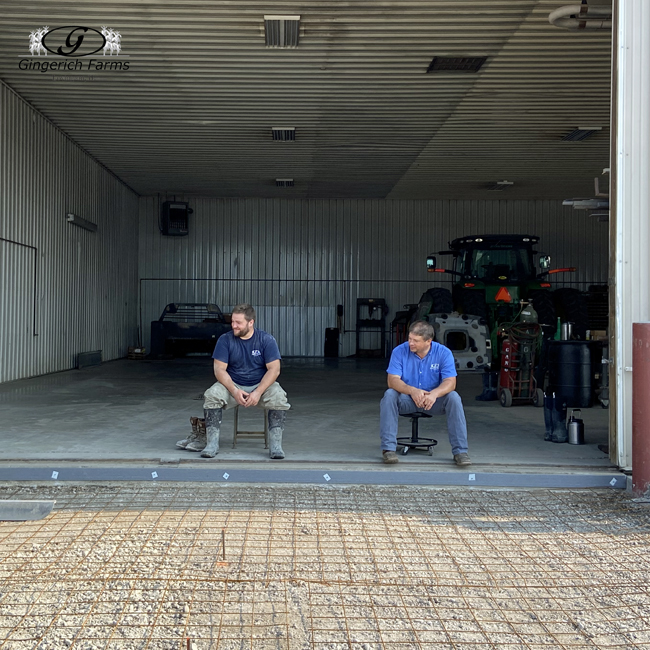 Waiting for concrete - Gingerich Farms