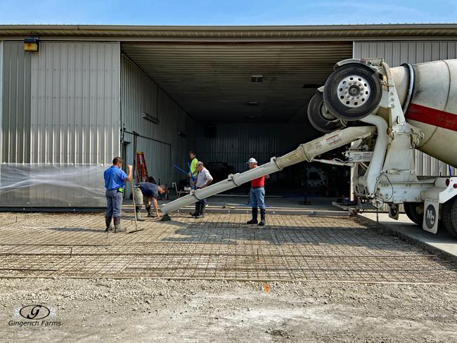 Concrete truck - Gingerich Farms