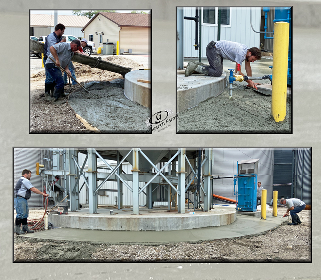Finished concrete - Gingerich Farms