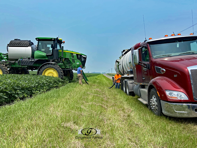 Filling up - Gingerich Farms