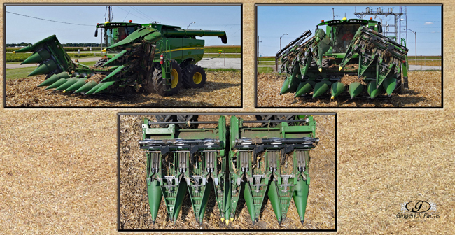 Folding corn head - Gingerich Farms