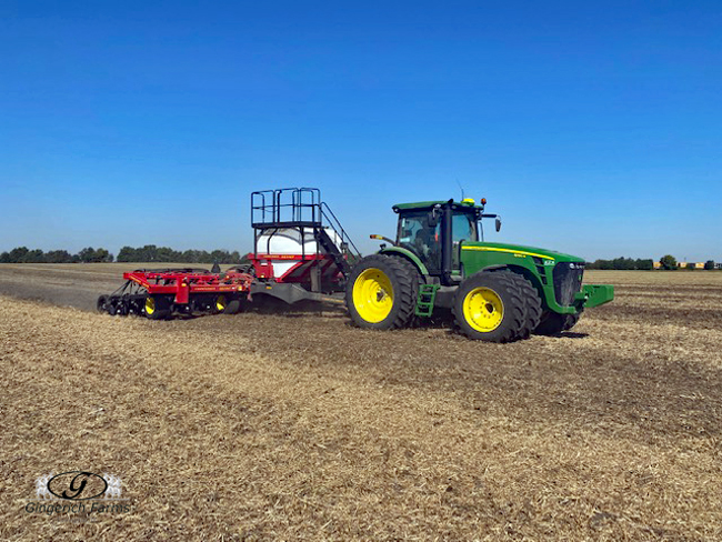 Planting cover crop - Gingerich Farms