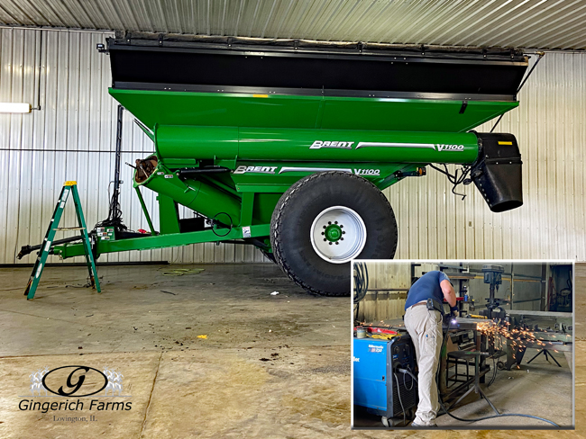 Auger cart work - Gingerich Farms