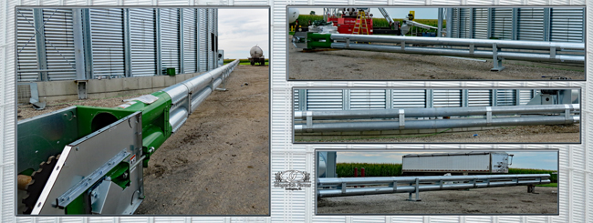Auger leg for new bin at Gingerich Farms