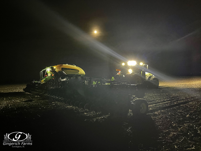 Planting at night - Gingerich Farms