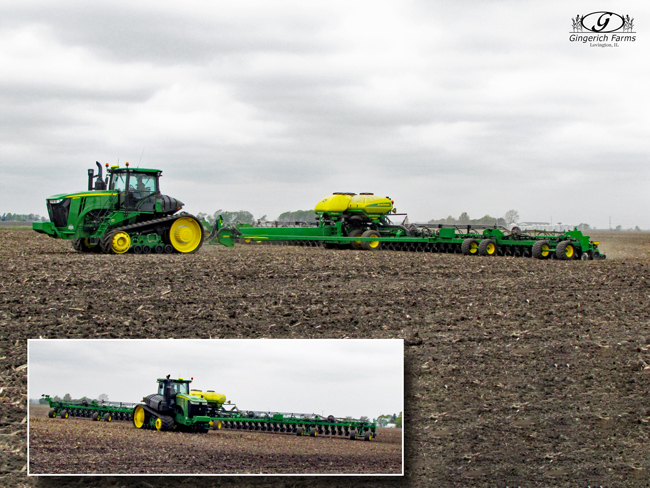 Bean planter at Gingerich Farms