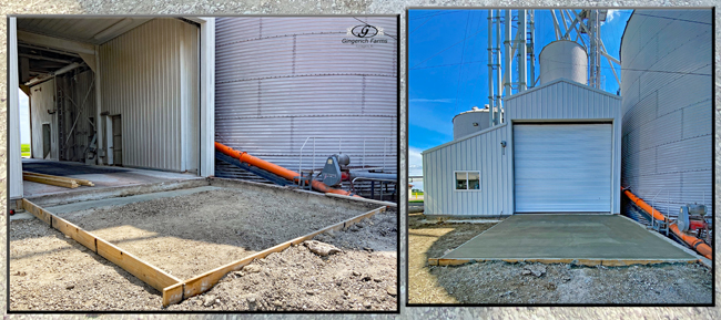 GC entry before & after - Gingerich Farms