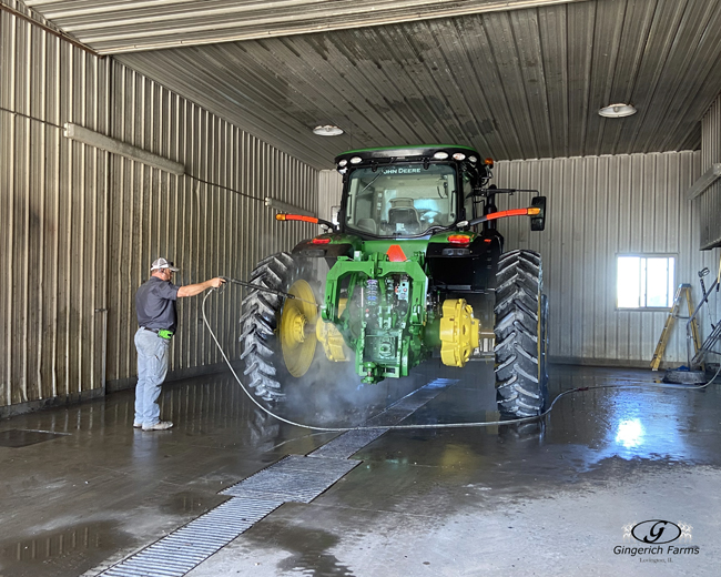 Washing Tractor - Gingerich Farms