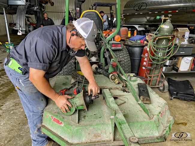 Mower repairs - Gingerich Farms