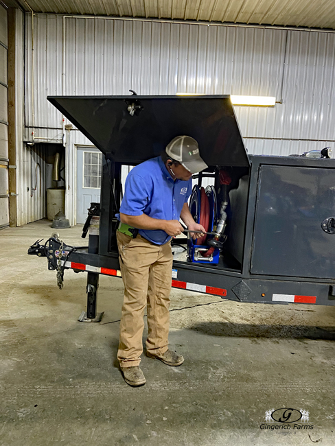 Fuel trailer - Gingerich Farms