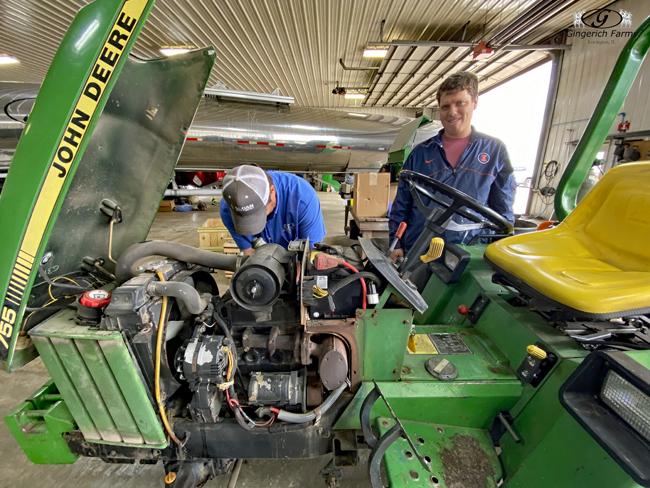 John Deere mower - Gingerich Farms