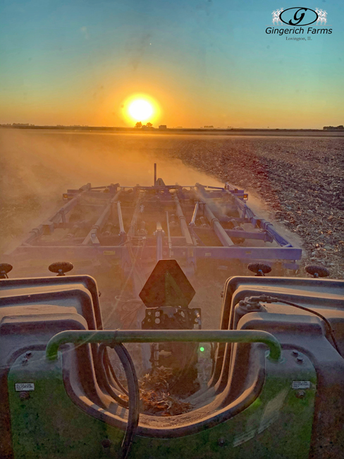 Sunset chiseling - Gingerich Farms