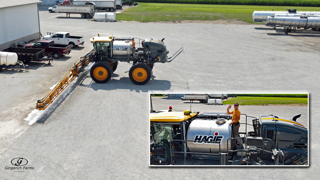 Cleaning out sprayer - Gingerich Farms