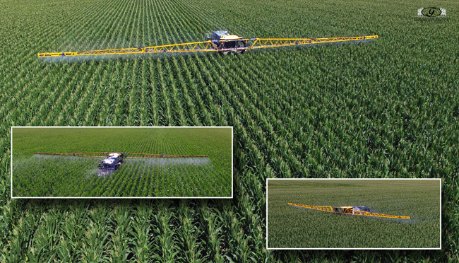 Corn spraying - Gingerich Farms