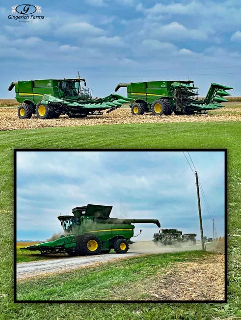 JD combine - Gingerich Farms