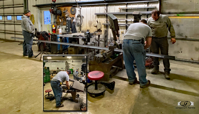 Cutting metal - Gingerich Farms
