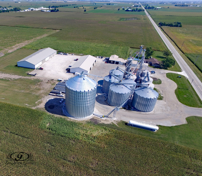 After new bin at Gingerich Farms