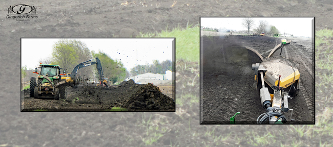 Dirt work at Gingerich Farms