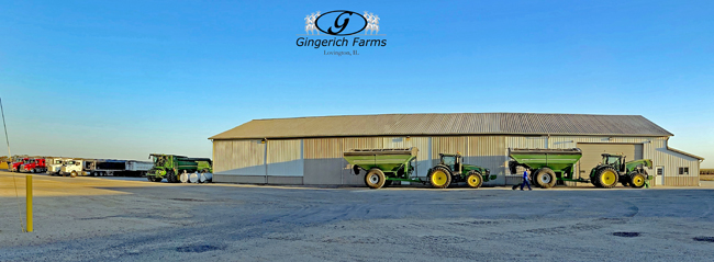 Getting ready for bean cutting - Gingerich Farms