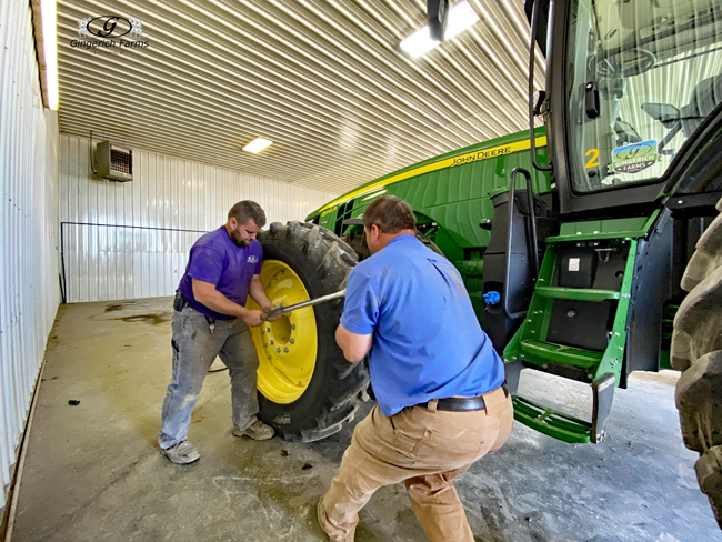 Tightening lug nuts - Gingerich Farms