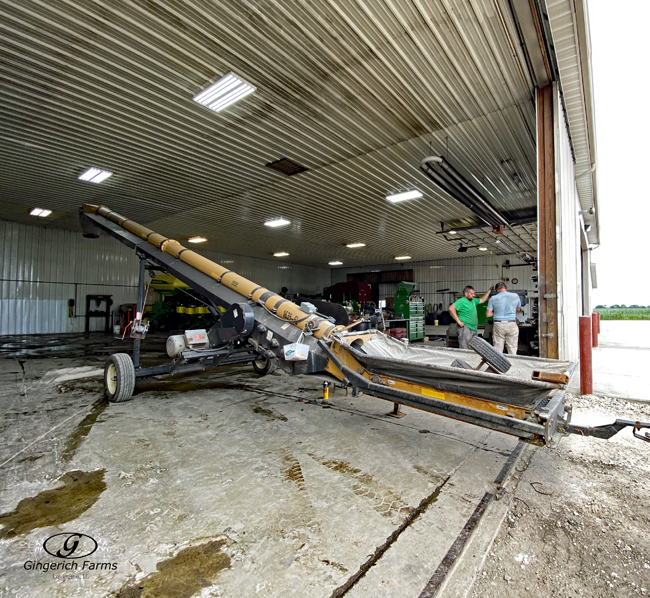 Auger repairs - Gingerich Farms
