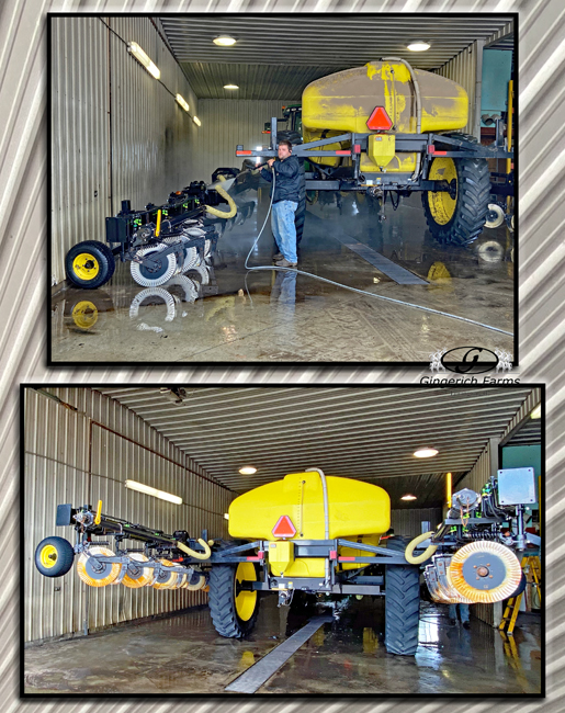 Cleaning sidedress bar - Gingerich Farms