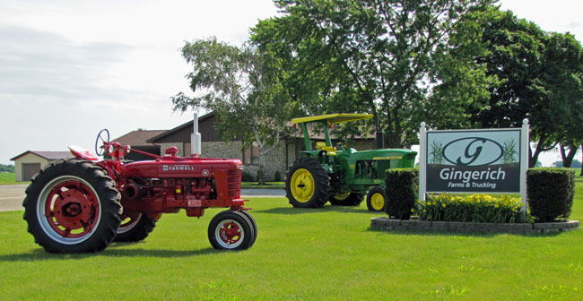 antique tractors at Gingerich Farms