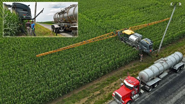 Loading Sprayer - Gingerich Farms