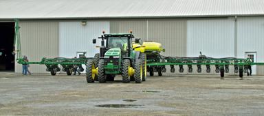 Sprayer at Gingerich Farms