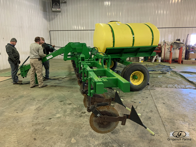 Put tank back on - Gingerich Farms