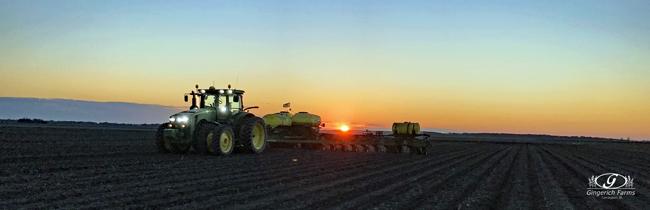 sunrise at Gingerich Farms