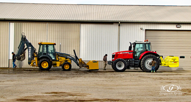Preparing for snow at Gingerich Farms