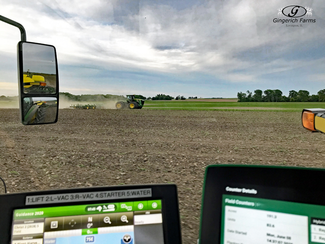 Working ground & planting at Gingerich Farms