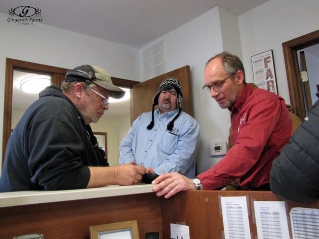 Joe, Rob & Dannie at Gingerich Farms