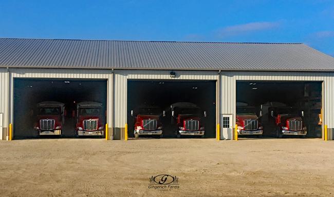 Trucks at Gingerich Farms
