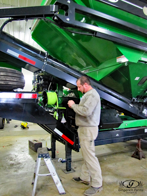 Seed Tender work at Gingerich Farms