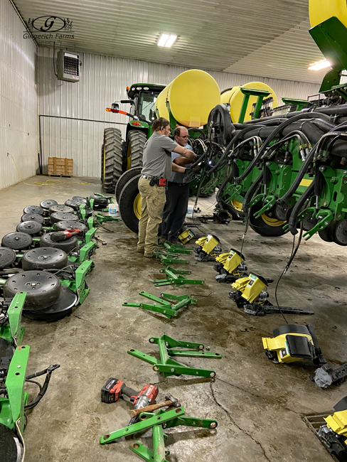 Corn Planter work at Gingerich Farms
