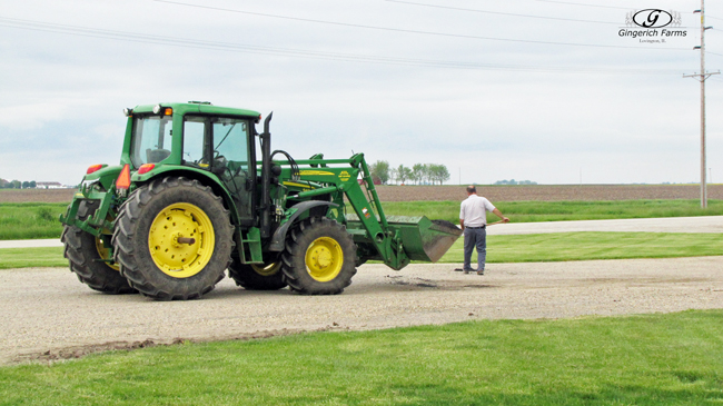 Patching holes at Gingerich Farms