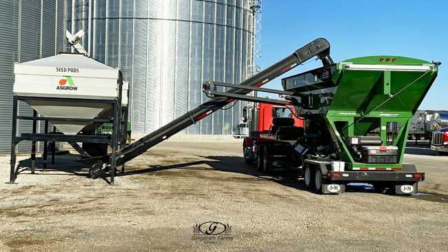 Tender loading at Gingerich Farms