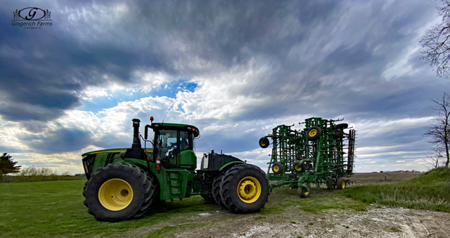 cultivator at Gingerich Farms