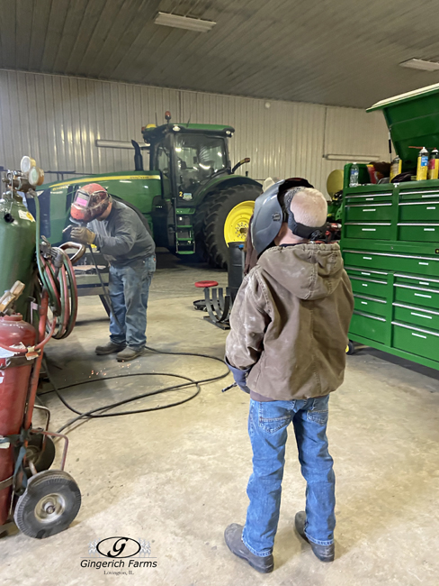 Welding at Gingerich Farms