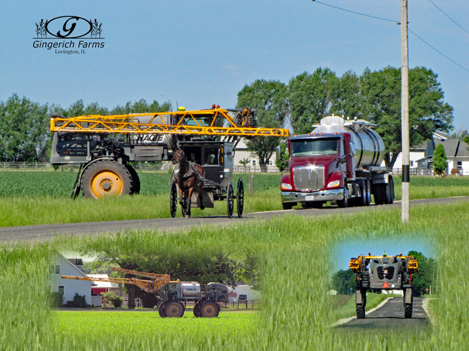 Filling Sprayer at Gingerich Farms