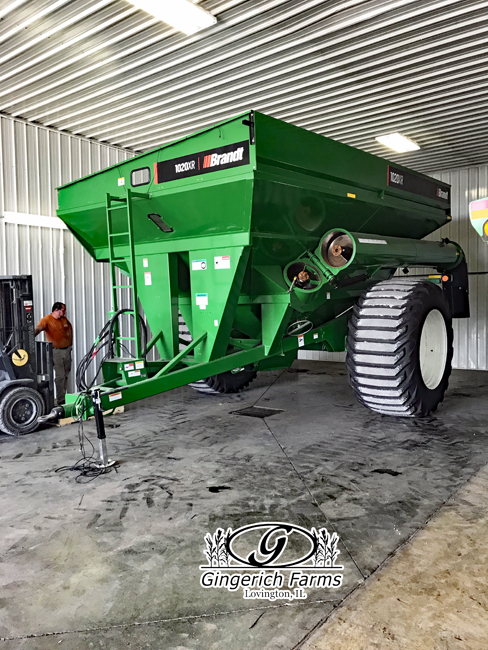 Working on grain cart at Gingerich Farms